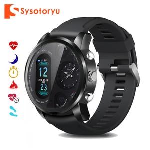 Image 1 - SYSOTORYU T3pro Smart Orologio Dual Time Zone Uomini di Sport Impermeabile Smartwatch di Frequenza Cardiaca Bluetooth Activity Tracker per IOS Android