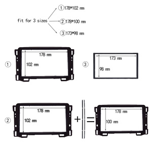 Image 4 - Top Quality Double Din Fascia For Chevrolet Sail Radio DVD Stereo Panel Dash Mount Install Trim Kit Refit Frame