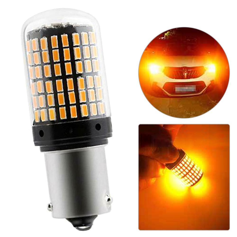 BAU15S 7507 Turn Signal Light PY21W 5009 Canbus No Error Led Bulb Amber Blinker 12V-24V 18W Front/ Rear Turn Signals