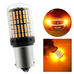 BAU15S 7507 Turn Signal Light PY21W 5009 Canbus No Error Led Bulb Amber Blinker 12V-24V 18W Front/ Rear Turn Signals