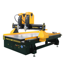 Cheap 1325 easy use woodworking router machine, double spindles 3kw high efficiency two head