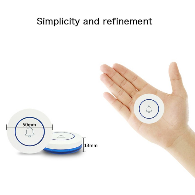 Home Simple Delicate Alarm Outdoor Button Smart WIFI Doorbell Small And Beautiful Shape Design