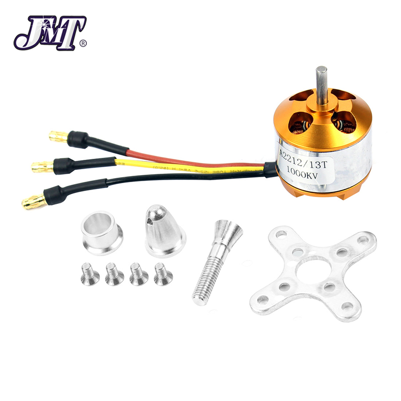 JMT A 2212 A2212 1000KV 1400KV Outrunner Brushless Motor 2-4S W/ Mount 10T RC Aircraft Quadcopter Drone