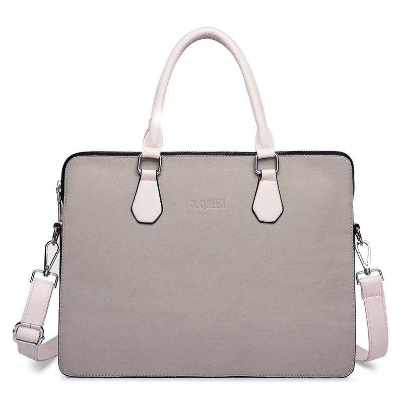 Business Leather Women's  Briefcase Laptop Bags Handbag Woman Fashion Multifunction Large Capacity Office Portable Shoulder Bag