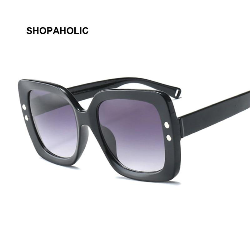 Plastic Square Oversized Women Sunglasses Square Brand Designer Big Frame Sunglasses For Female Oculos De Sol Feminino