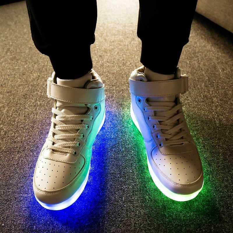 RayZing männer Led Schuhe USB Aufladbare Mode leucht turnschuhe für männer frauen party schuhe Erwachsene hochzeit schuhe glowing schuhe