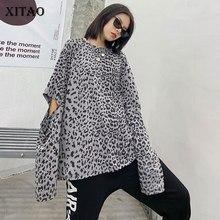XITAO Off Shoulder T Shirt Leopard Women Fashion New 2020 Au
