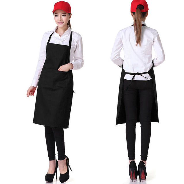 Cook Apron Barista Bartender Chef BBQ Hairdressing Apron Catering Uniform Work Wear Anti-Dirty Overalls kitchen accessories