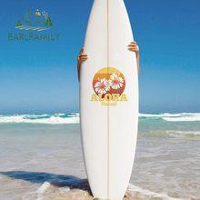 EARLFAMILY – autocollants en vinyle pour voiture, 30cm x 28.4cm, pour Aloha Hawaii, fleur dété, décalcomanie étanche pour véhicule, valise, planche de surf