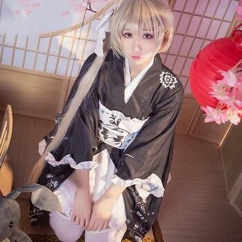 New Anime Yosuga no Sora Cosplay Costume Kasugano Sora Kimono Dress Carnival Halloween Party Costumes for Women 2