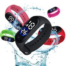 Fashion Digital LED Sports Watch Unisex Silicone Band Waterproof Wrist