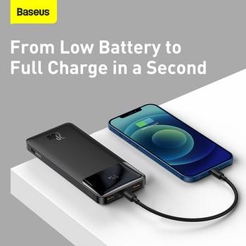 Внешний аккумулятор Baseus на 20 Вт с поддержкой быстрой зарядки, 20000 мАч 4