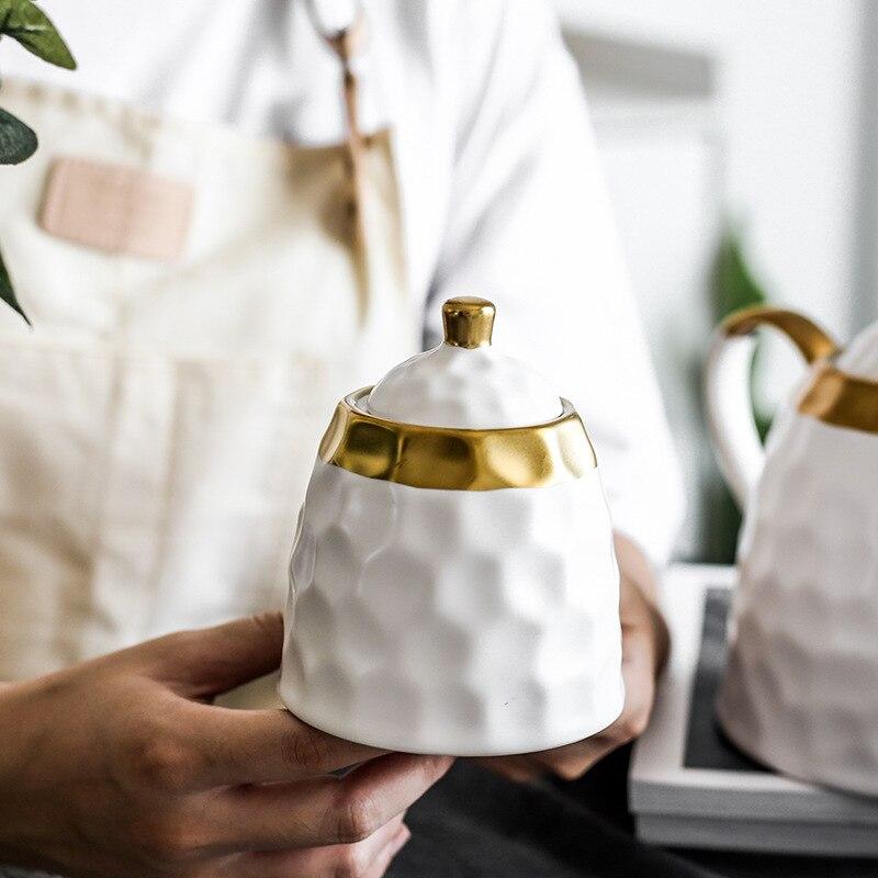 Набор керамических кофейных чашек, простой вечерний чайный набор, чайный набор, европейский светильник, роскошные бытовые чашки для воды, ч... - 5