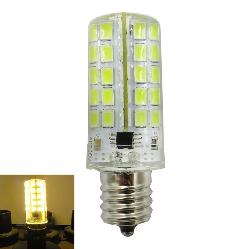 <font><b>E17</b></font> <font><b>LED</b></font> Silicone Lamp <font><b>Bulb</b></font> 4W 80 <font><b>Leds</b></font> 220V 200-240V AC <font><b>LED</b></font> Chandelier Corn <font><b>Bulb</b></font> Light Warm White image