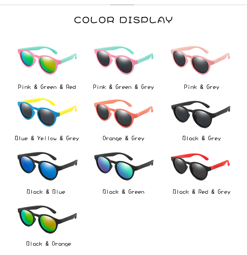 H2f3fff58a69e465dafb3df24686c58c3E - WarBlade New Kids Polarized Sunglasses Round Children Sun Glasses Boys Girl Safety Glasses Baby Infant Shades Eyewear UV400