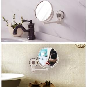 Image 3 - タッチ調光器とledミラータッチスクリーン化粧鏡高級ミラー 20 ledライト 180 度調整可能なテーブル化粧鏡