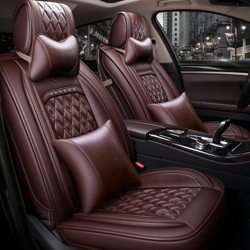 2019 ling tu K ONE маленький SUV автомобильный чехол для сиденья четыре сезона универсальный полностью окруженный кожаный сетевой красный рессорна... - 2