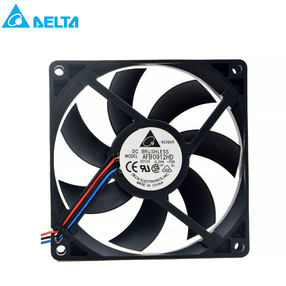 2700RPM 54.60CFM 35.0DBA 2-wire lead DC brushless cooling FAN rated 0.14A Brand new for delta AFB0912HD 92X92X20MM 12V 0.24A