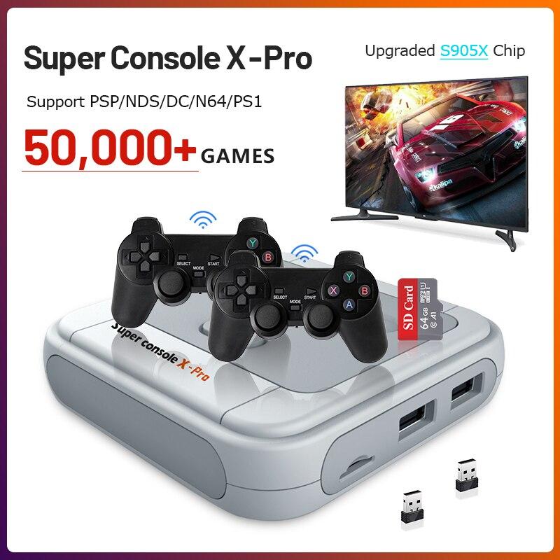 Console de jogo retro portátil para ps1/psp 50000 + jogos hdmi saída mini tv suporte de console de jogos de vídeo wifi/controladores sem fio