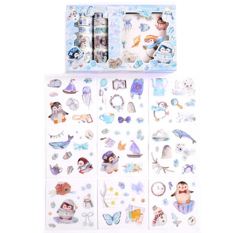 de papel japonês adesivos conjunto adesivo máscara etiqueta scrapbooking