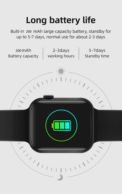 Smart Watch T900 Bluetooth Call Music Heart Rate Sports Smartwatch 44MM 3