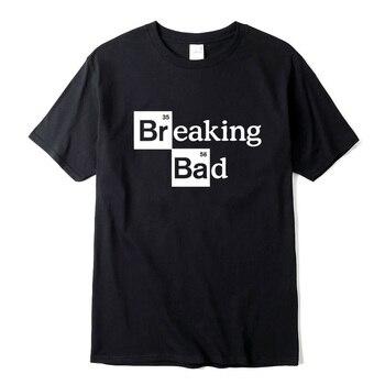 XIN YI Mens T-shirt high quality100%cotton O Neck Heisenberg Men Short Sleeve Casual Breaking Bad Print T shirt For