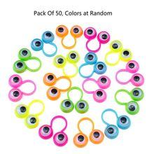 50Pcs Eye Finger Puppets Googly Eyes Rings Eyeball Ring Kit for Kids Party Favor