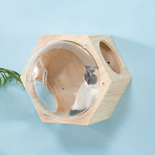 Diy wall mounted cat climbing frame tree toy space capsule play