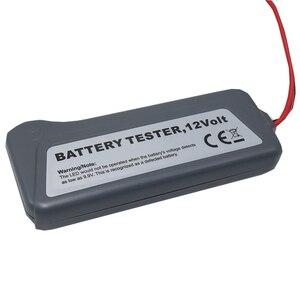 Image 2 - 1 قطعة سيارة صغيرة 12 فولت جهاز اختبار بطارية LCD الرقمية المولد 6 LED أضواء عرض نظام محلل دراجة نارية التفتيش أداة