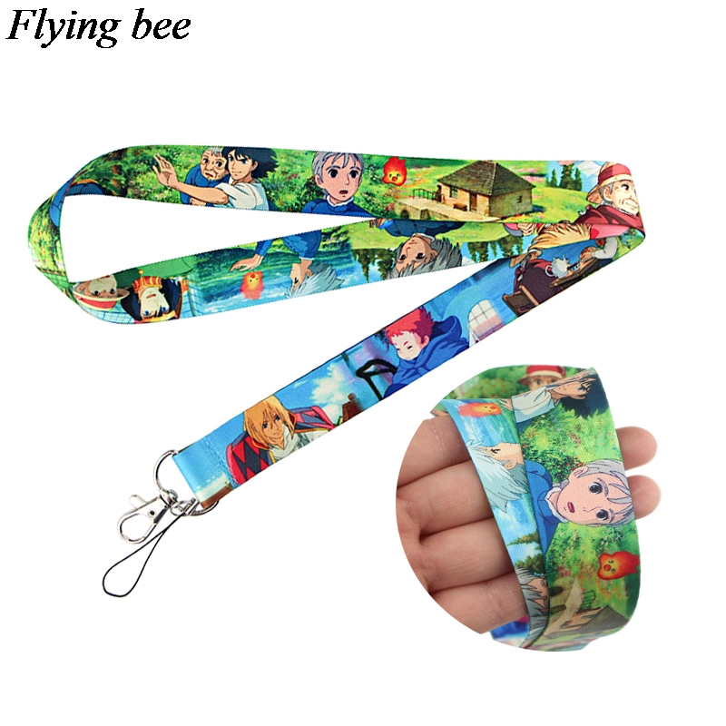 20pcs/lot Flyingbee Cartoon Anime Lanyard Phone Rope Keychains Phone Lanyard For Keys ID Card Cartoon Lanyards  X0798