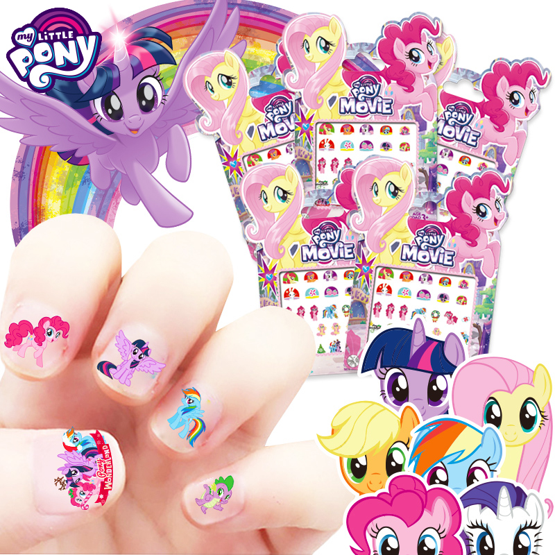 My Little Pony Sticker Unicorn Horse Princess Elsa Anna Snow Minnie Mickey Mouse Snow White Make Up Toy Nail Sticker Kids Gift