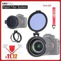 ND filtre anneau de dégagement rapide DSLR accessoire d'appareil-photo support de commutateur rapide pour 49mm 58mm 67mm 72mm 77mm 82mm DSLR adaptateur d'objectif Flip RFS ND filtre anneau de déverrouillage rapide