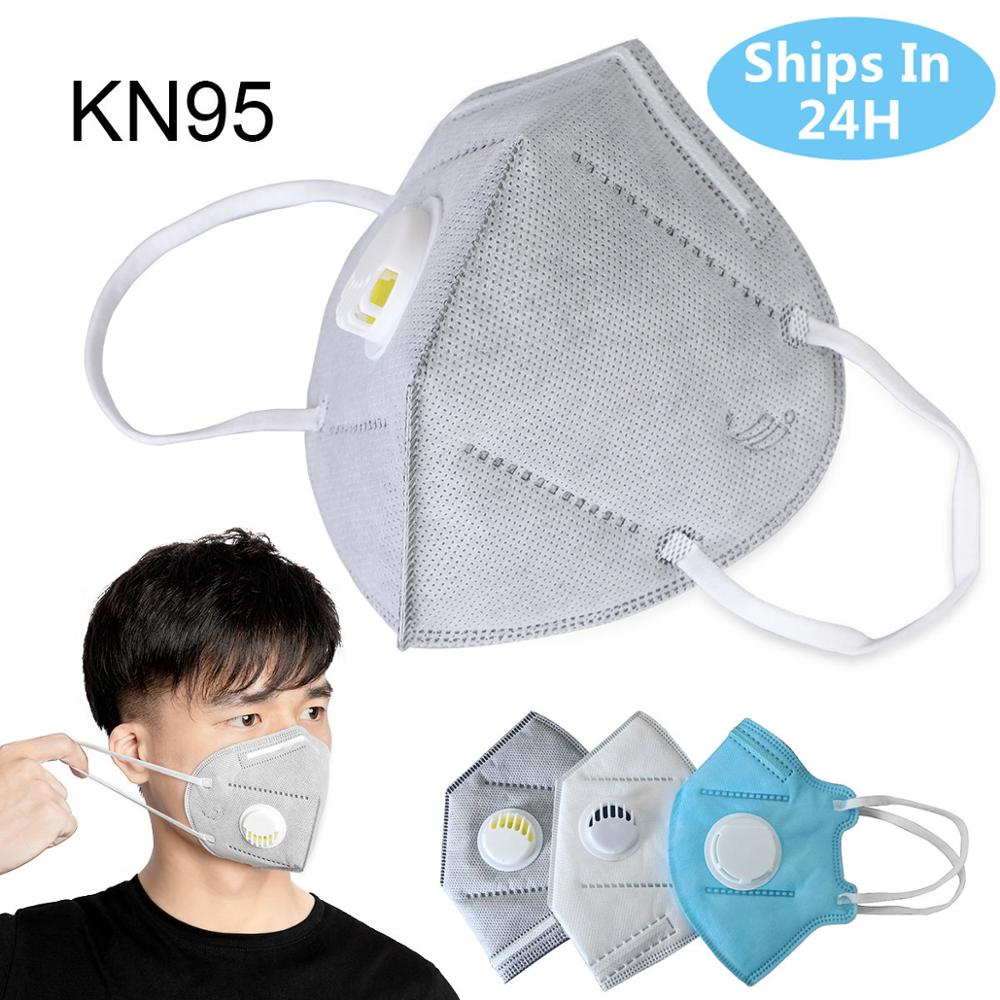 KN95 Mouth Mask Anti Pollution Dust Respirator Washable Reusable Masks Cotton Mouth Muffle Anti  FFP2 Dust Gas Mask