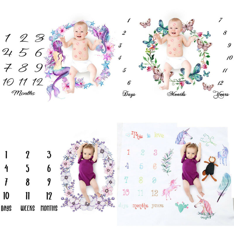 5 Styles Newborn Baby Girls Boy Cute Photography Mat Blanket Milestone Photography Photo Props Shoots Cloth