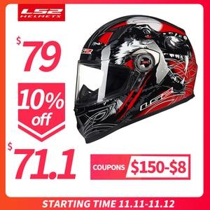 Image 1 - LS2 FF358 フルフェイスmoto rcycleヘルメット女性男性capacete ls2 とインナーパッドカスコmoto capaceteデmoto cicleta
