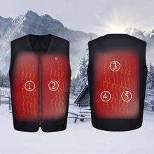 Открытый USB Инфракрасный Электрический нагревательный жилет для мужчин и женщин зимний теплый жилет с подогревом термальная Лыжная походная одежда размера плюс#2
