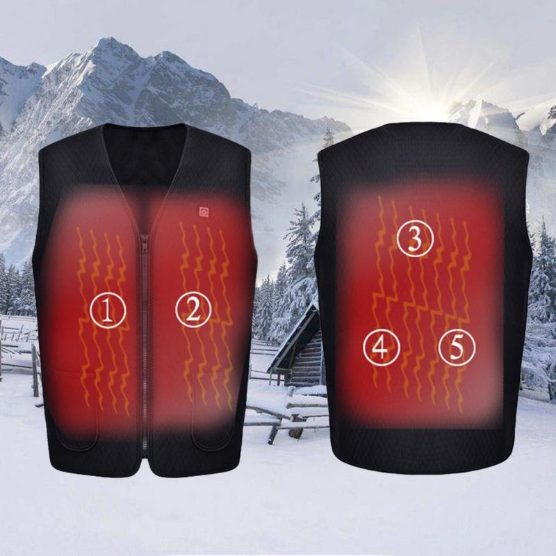 Outdoor USB Infrared Electric Heating Vest Men Women Winter Warm Heated Waistcoat Thermal Skiing Hiking Clothing Plus Size #2