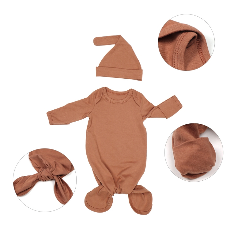 Newborn Baby Sleeping Bag Sacks Blanket Swaddle Wrap Bedding Clothes Hat Outfits
