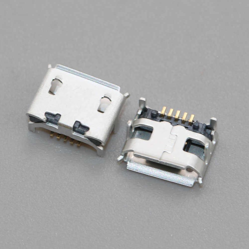 Chenghaoran 1 Pcs/lot MICRO 5P USB Jack Konektor Soket 4 Kaki Dip Besar Ox Horn USB Konektor V8 Port biaya Socket