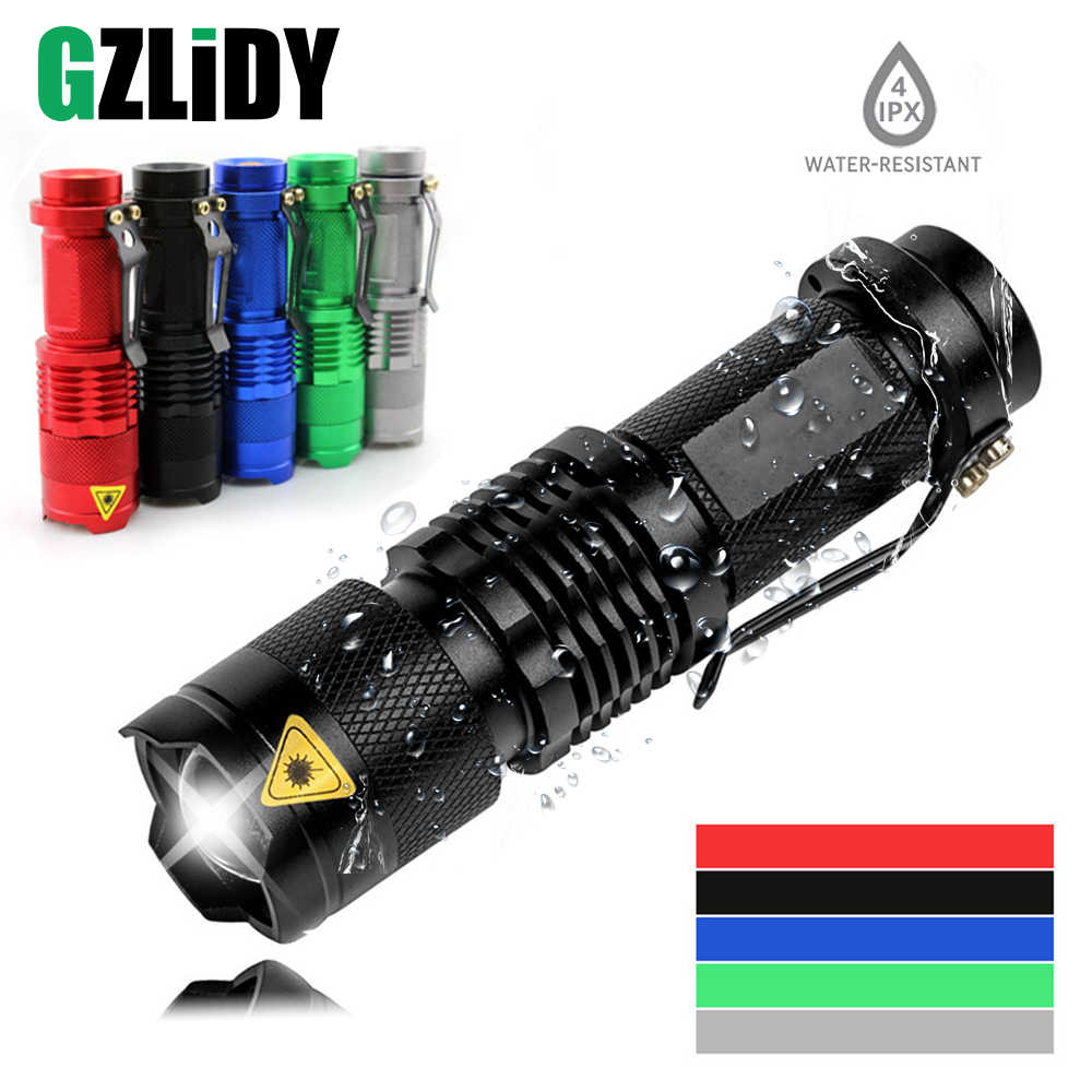 Colourful Waterproof LED Flashlight High Powerful Mini Spot Lamp 3 Models Zoomable Camping Equipment Torch Flash Light