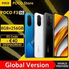 [World premiere em estoque] versão global poco f3 5g smartphone snapdragon 870 octa núcleo 8gb 256gb 6.67