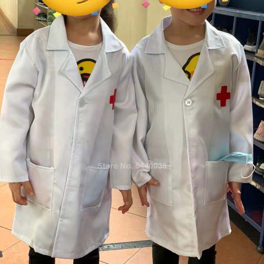 Children Medical Uniform Kids Girls Nurse Dress Cosplay Costumes Carnival Boy Hospital Lab Gown Doctor's Clothing Christmas Gift