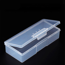 Plastic High Quality Transparent Manicure Tool Nail Art Empty Container Storage Boxes Organizer Shellhard 1pc Nail Storage Box цена