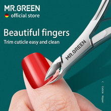 MR.GREEN Cuticle Nippers Nail Manicure Scissors Cuticle Clippers Trimmer Dead Skin Remover Pedicure Stainless Steel Cutters Tool