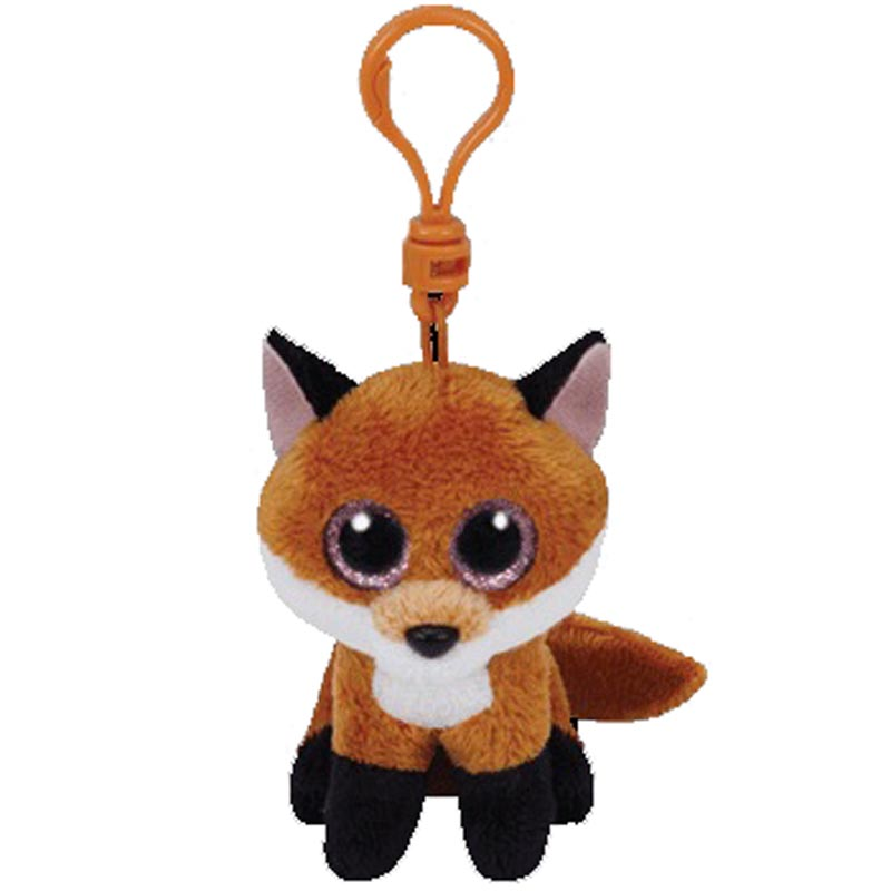 Ty Slick The Fox Clip Plush Animal Toys Stuffed Keychain Doll Gift 15cm