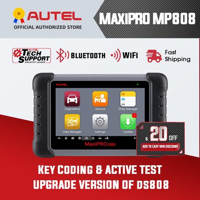 Autel MaxiPRO MP808 DS808 OBD2 Scanner automobile OBDII outil de diagnostic lecteur de Code outil de numérisation clé de codage comme Autel MaxiSys MS906