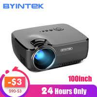 BYINTEK GP70 Portable Mini LED Projector, Cinema Video Digital HD Home Theater Beamer Proyector
