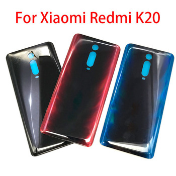 New For Xiaomi Mi 9T / Redmi K20 Battery Back Cover Glass For Mi 9 t Rear Door Replacement Housing Adhesive For Redmi K20 Pro 10pcs lot for xiaomi mi 8 mi8 se mi 8se battery back cover rear door housing side key replacement repair spare parts replacement