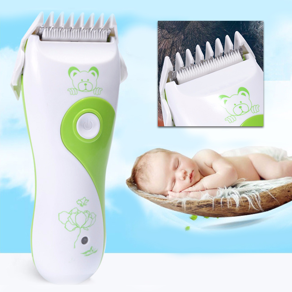 Baby Hair Cutter Electric Clipper Low Noise Strong Power Green Flexible Waterproof Haircut Trimmer Electric Cutter Safety
