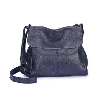 2PCS / LOT Genuine leather Portable Lychee Pattern Woman Shoulder Sling Bag Handbag Big Messenger Bag